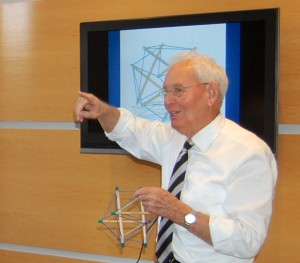 Dr. James explains the principles of tensegrity